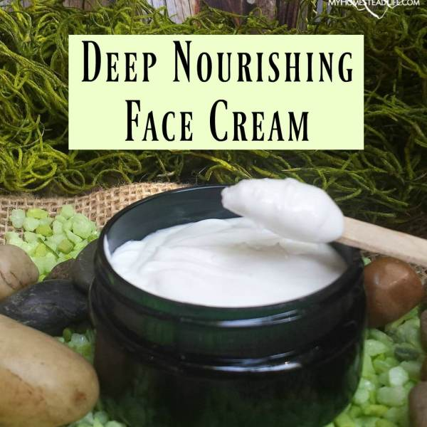 Deep Nourishing Face Cream Handcrafted using all natural and organic ingredients by My Homestead Life