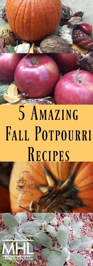 5 Amazing Fall Potpourri Recipes + A Bonus Tip!