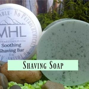 MHL Soothing Shaving Bar for men and women by My Homestead Life
