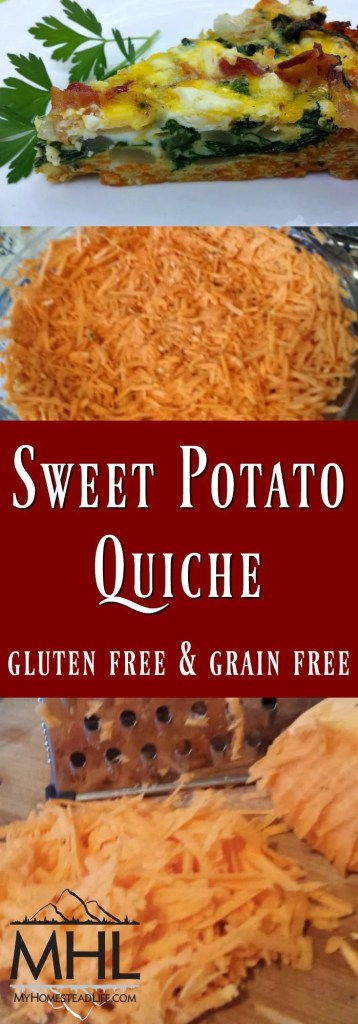 Sweet Potato Quiche Gluten Free & Grain Free. Cook with your favorite herbs!