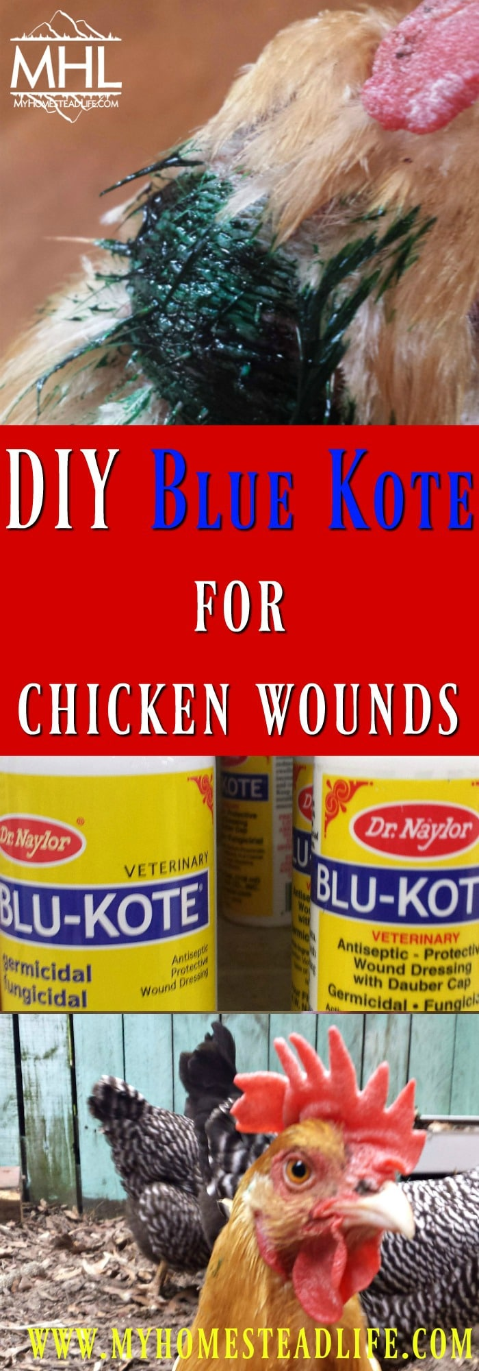 DIY Blue Kote For Chicken Wounds-