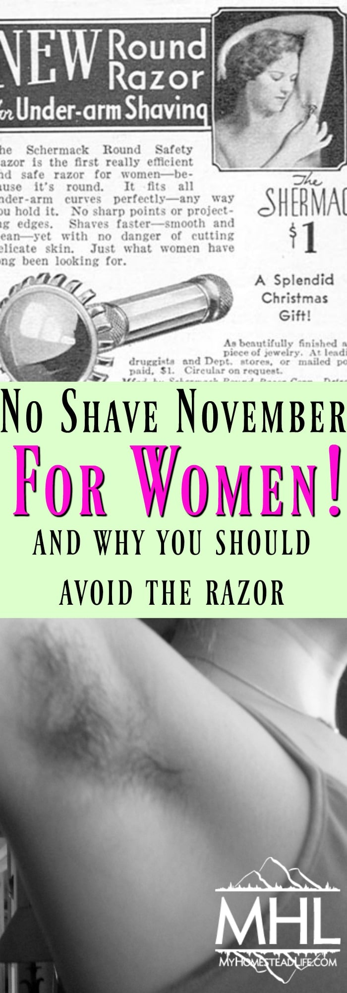 No Shave November- For Women! And Why YOU Should Avoid The Razor