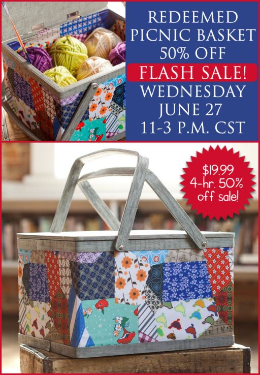 DaySpring Redeemed Picnic Basket Flash Sale