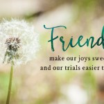 A Friend Is for All Seasons today at (in)courage!
