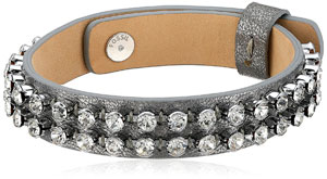 Fossil Glitz Leather Bracelet