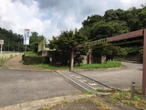 ひがし公園の北駐車場入り口