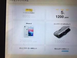 RISU算数の景品の携帯電話