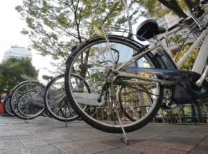 多くの自転車
