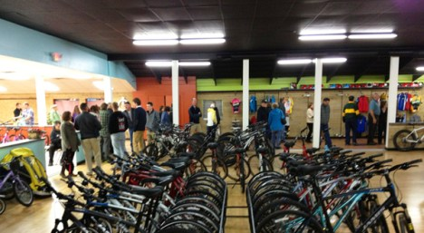 Inside the Hometown Bicycles bicycle adventure center
