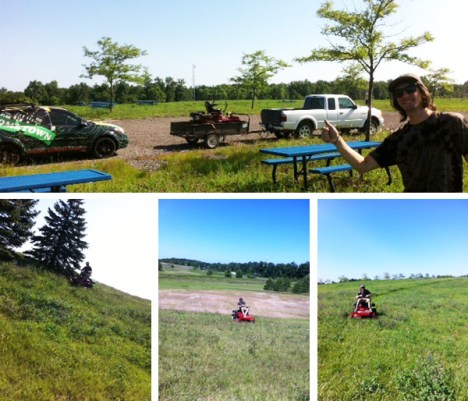Mowing the Hometown Race Course