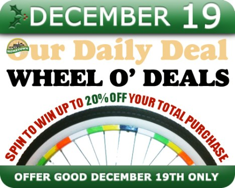 Hometown Bicycles Daily Deal Wheel O Deals