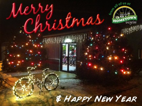 Merry Christmas from Hometown Bicycles bicycle adventure center