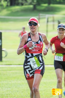 Hometown Bicycles' Amy Gluck at Island Lake Triathlon