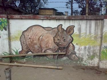 ON THE WALL IN GUWAHATI CITY
