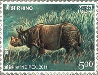 Rhino In postage stamps