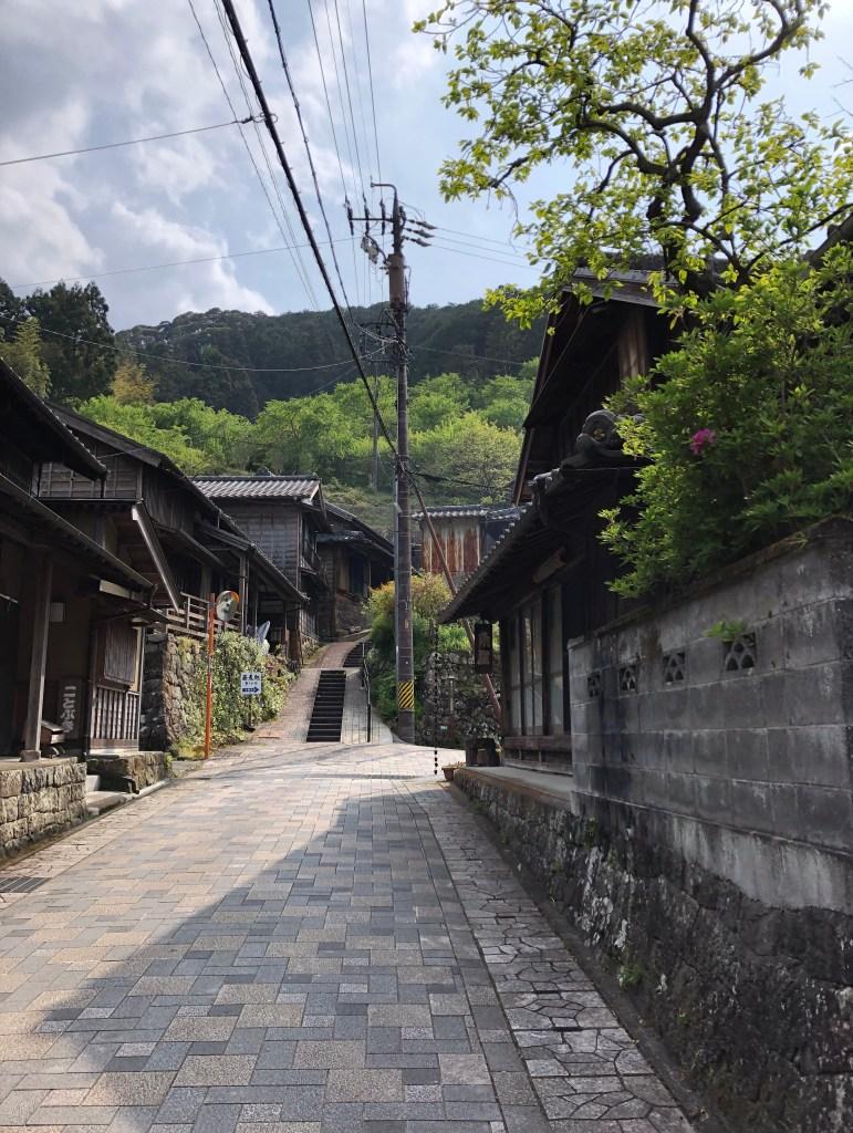 old style japanese houses in okabe shuku, shizuoka 静岡県岡部宿の街並み