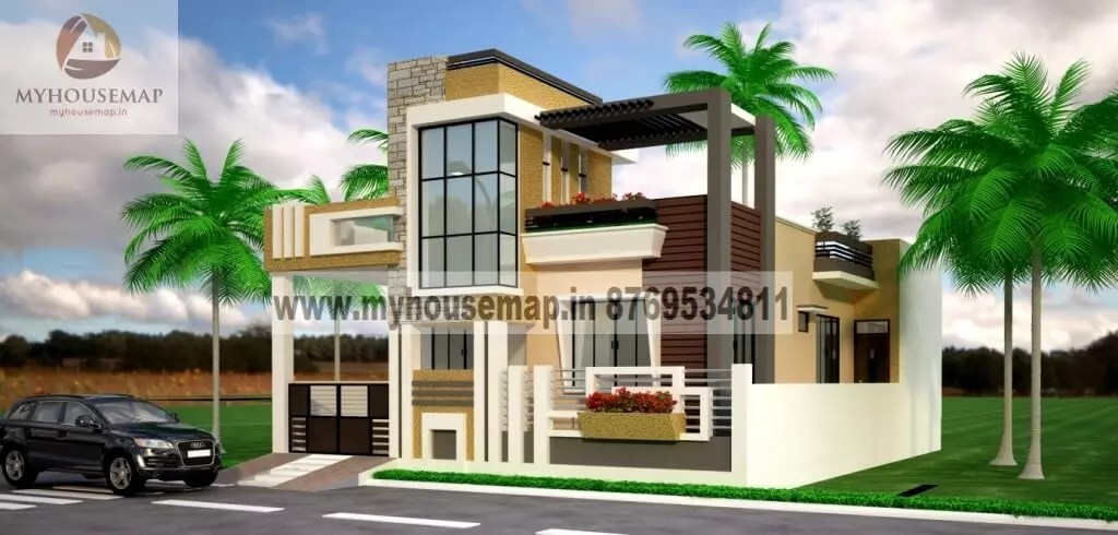 front elevation designs for small house with parking and ...