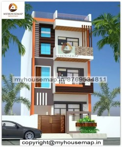 3 floor front normal house design
