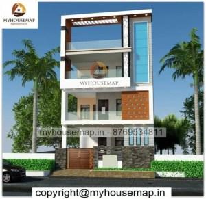 3 floor simple home elevation design