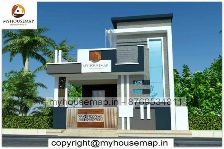 House elevation design ground floor