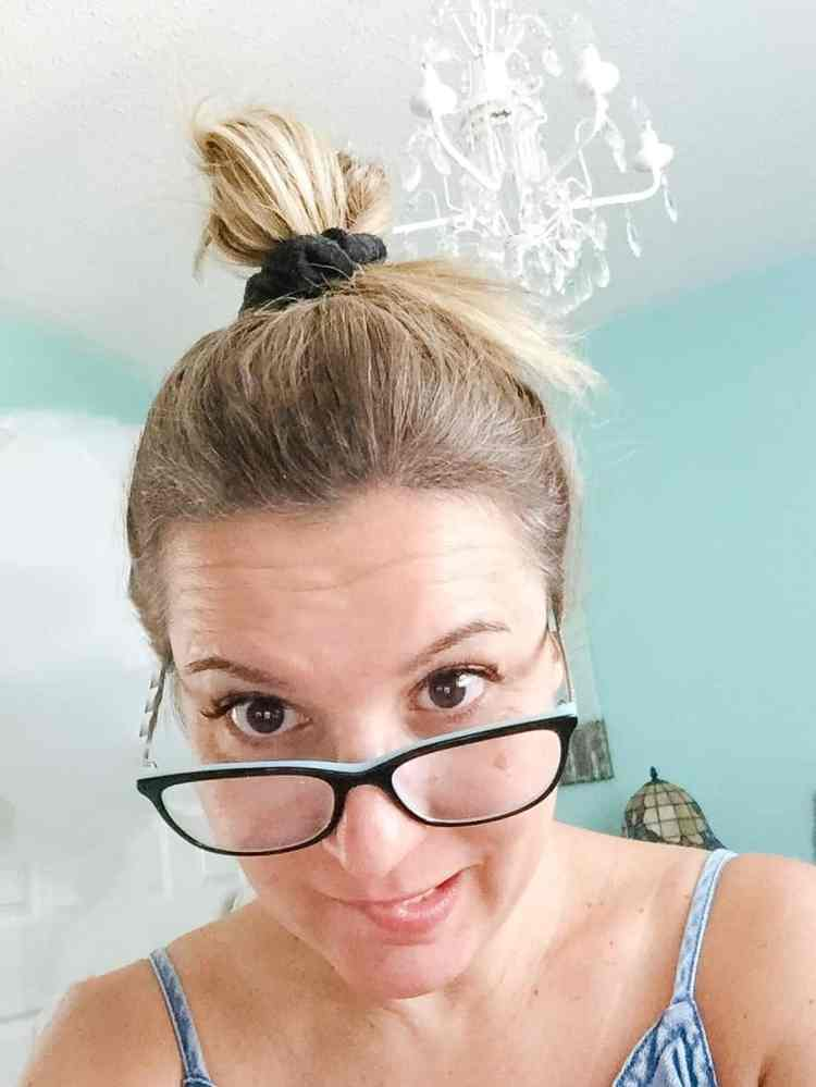 Messy Bun Hair Style for growing bangs
