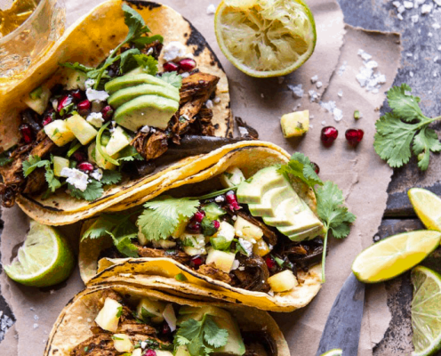 Instant Pot Spicy Pineapple Chicken Tacos