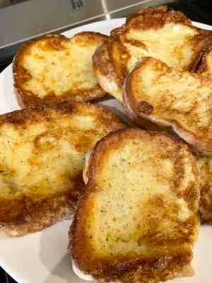 Savoury French Toast Served!