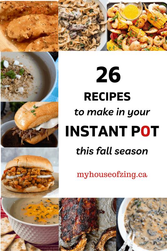 26 Fall Instant Pot Recipes Pinterest Pin