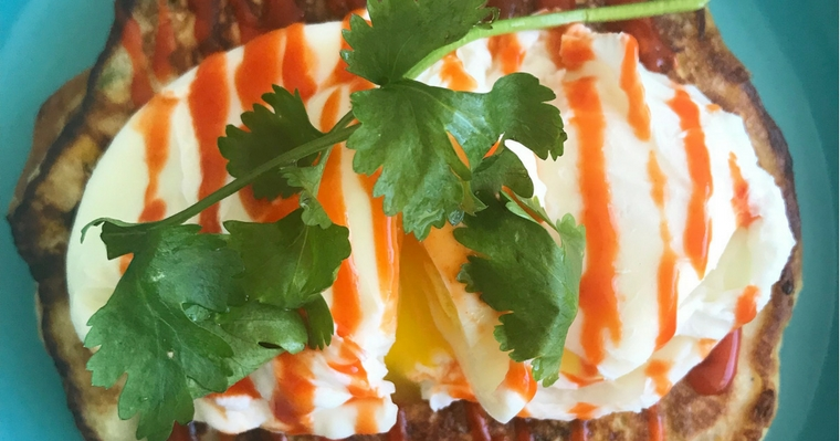 Giant Sweetcorn Fritters & Poached Eggs