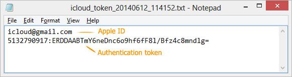 auth_token icloud finder