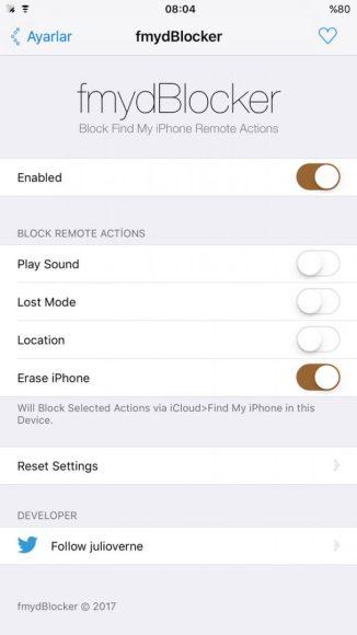 fmydBlocker will block icloud remote actions