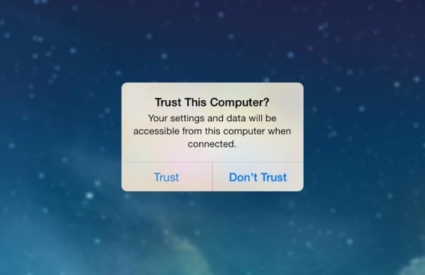 iOS11 establishing Trust with a Computer Now Requires a Passcode
