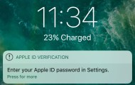 Apple ID password prompts can be used for phishing attacks