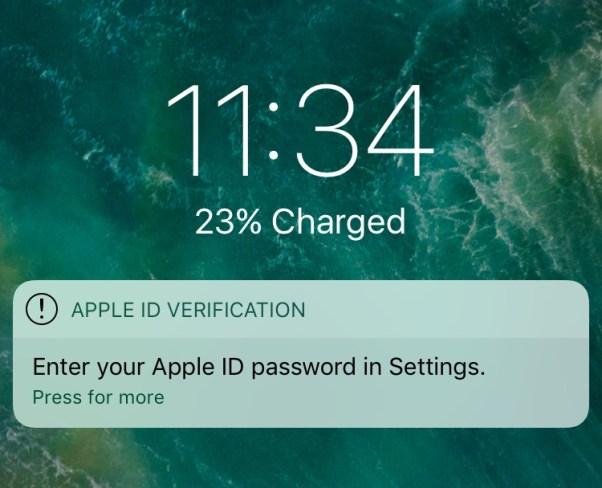 phishing ios 11 iphone x