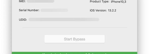 New iCloud bypass software using (checkra1n)