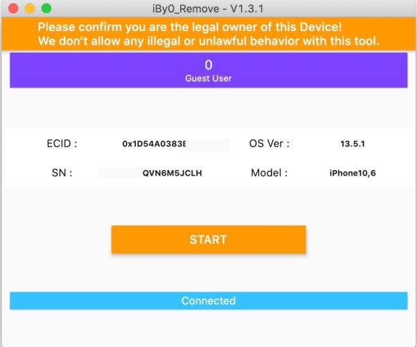 iBypass FMI-OFF for Open Menu on iOS13 checkra1n devices