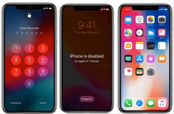 FMIOFF Turn off Find My iPhone, passcode, disabled, open menu iOS13