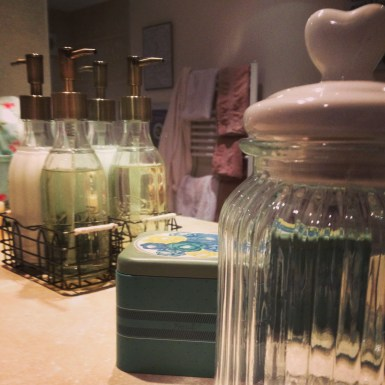 Bottles and jars for potions and creams
