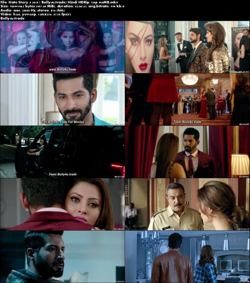 Hate Story 4 2018 HDRip 900MB Full Hindi Movie Download 720p