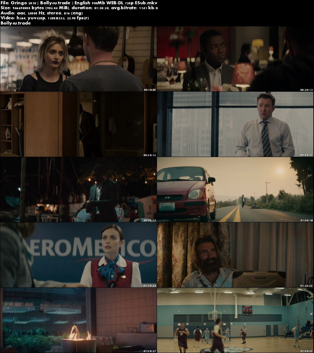 Gringo 2018 WEB-DL 350MB English 480p Download