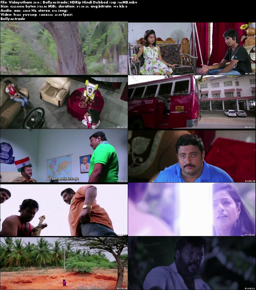 Vidayutham 2018 HDRip 350MB Hindi Dubbed 480p Download