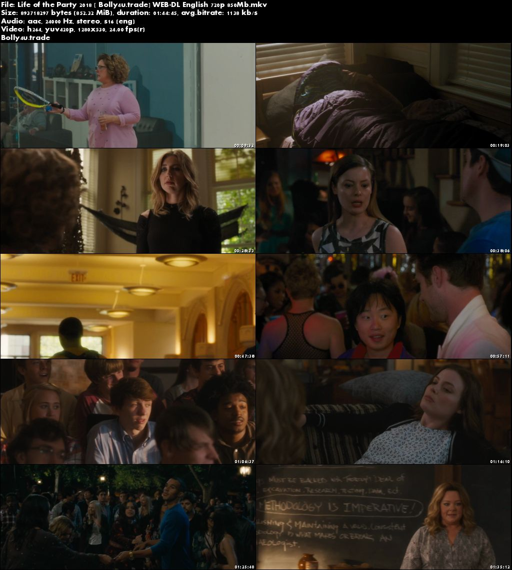 Life of the Party 2018 WEB-DL 850MB English 720p Download
