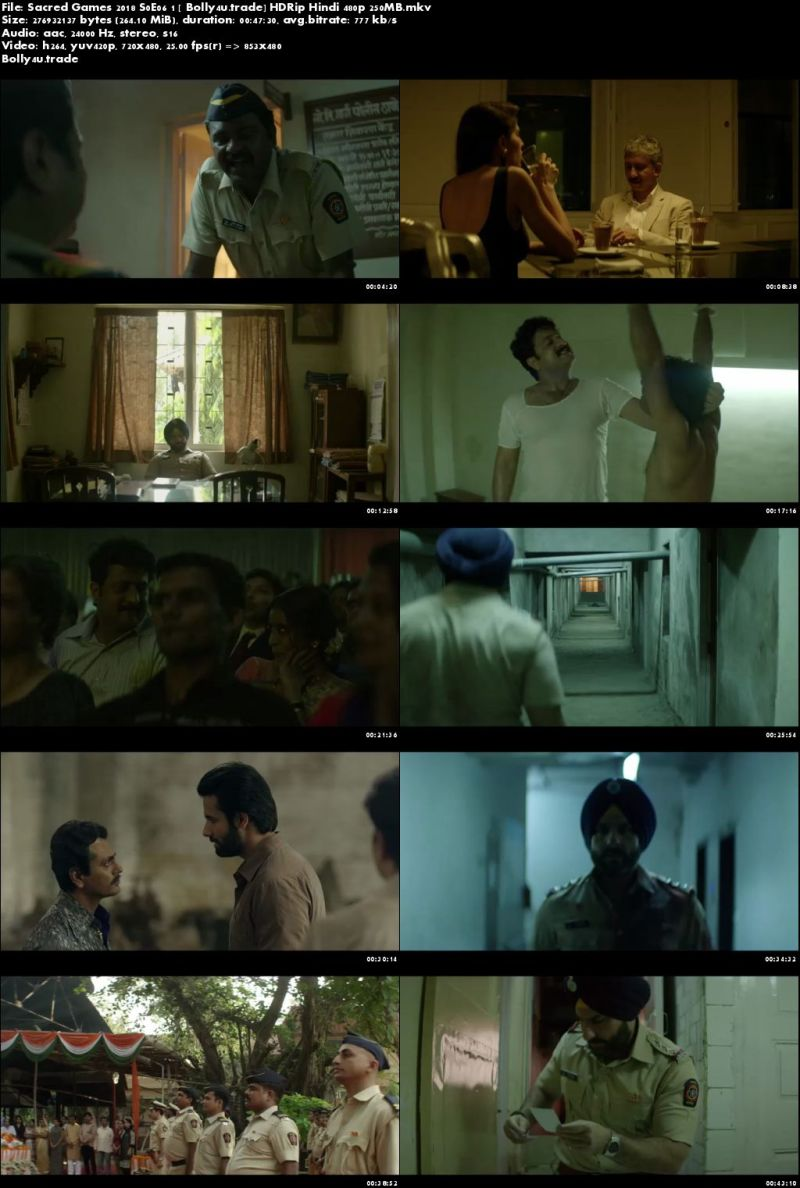 Sacred Games 2018 S01E06 HDRip 250MB Hindi 480p Download