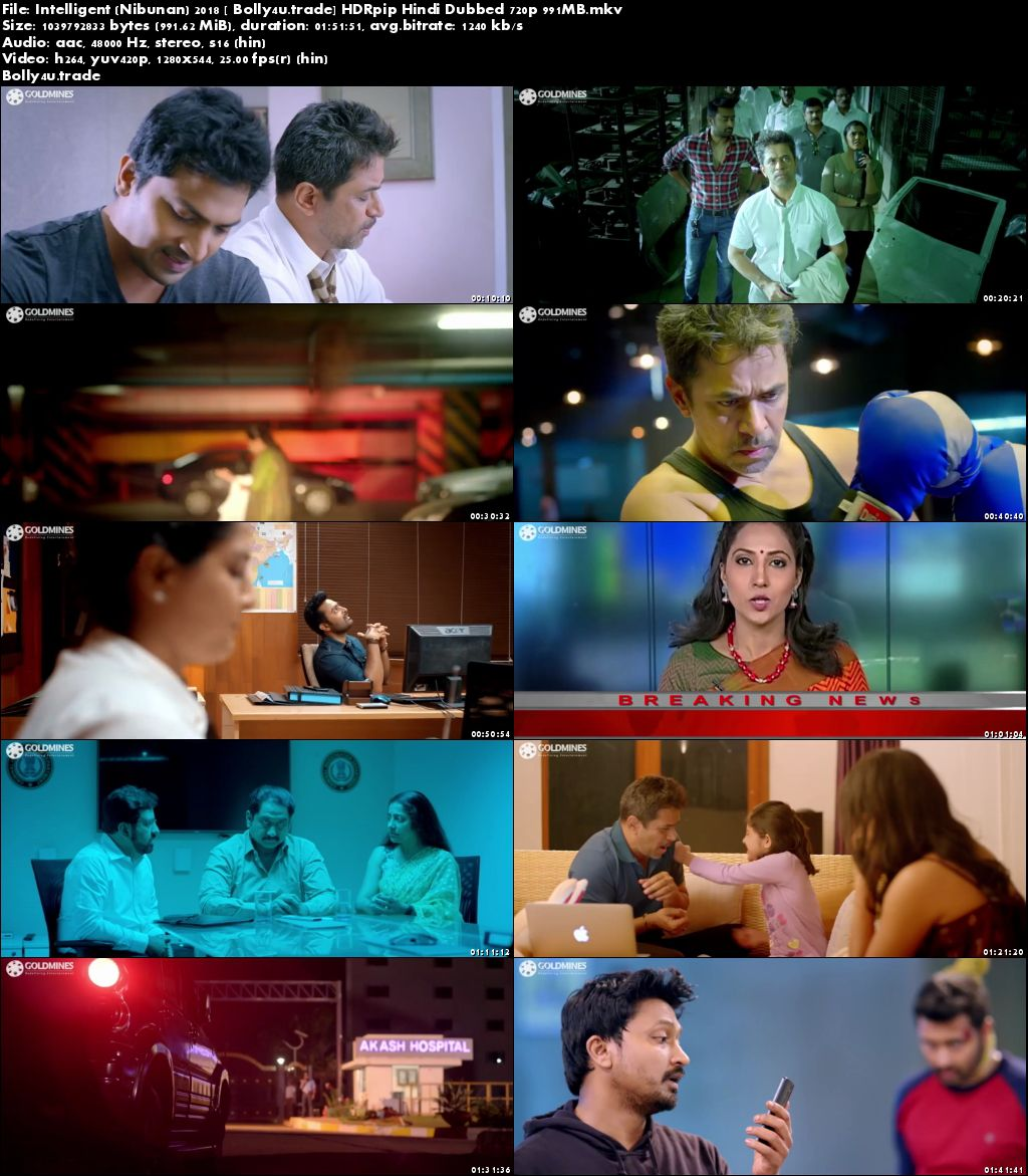 Intelligent 2018 HDRip 350MB Full Hindi Dubbed Movie Download 480p