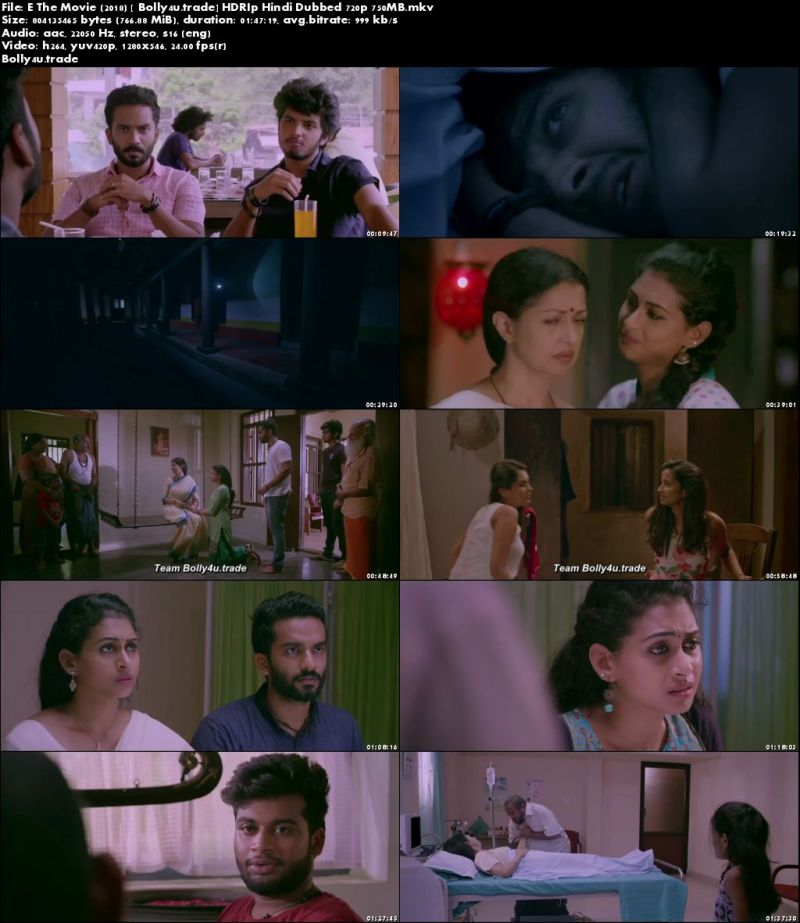 E The Movie 2018 HDRip 750Mb Full Hindi Dubbed Movie Download 720p