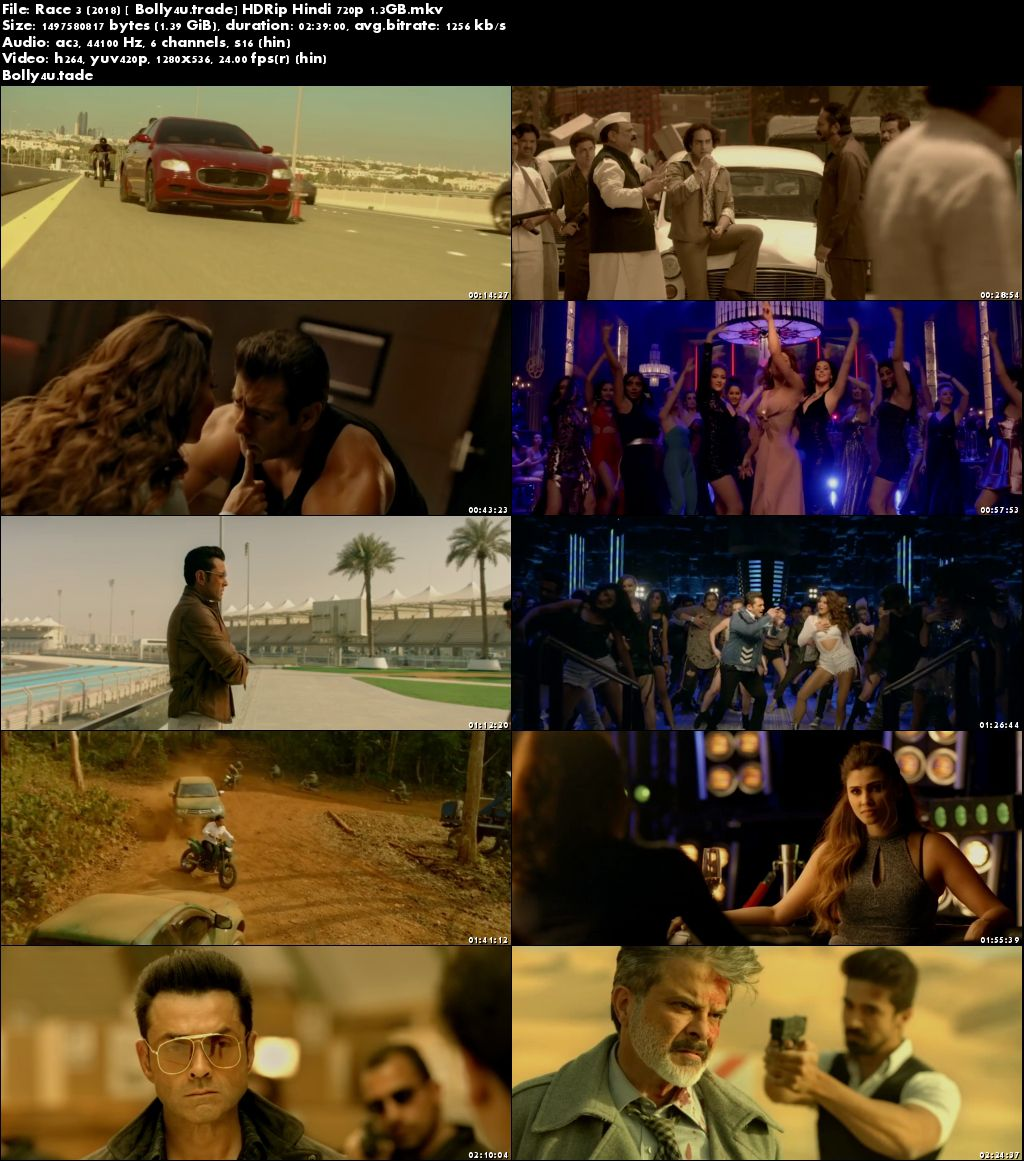 Race 3 2018 HDRip Full Hindi Movie Download 720p