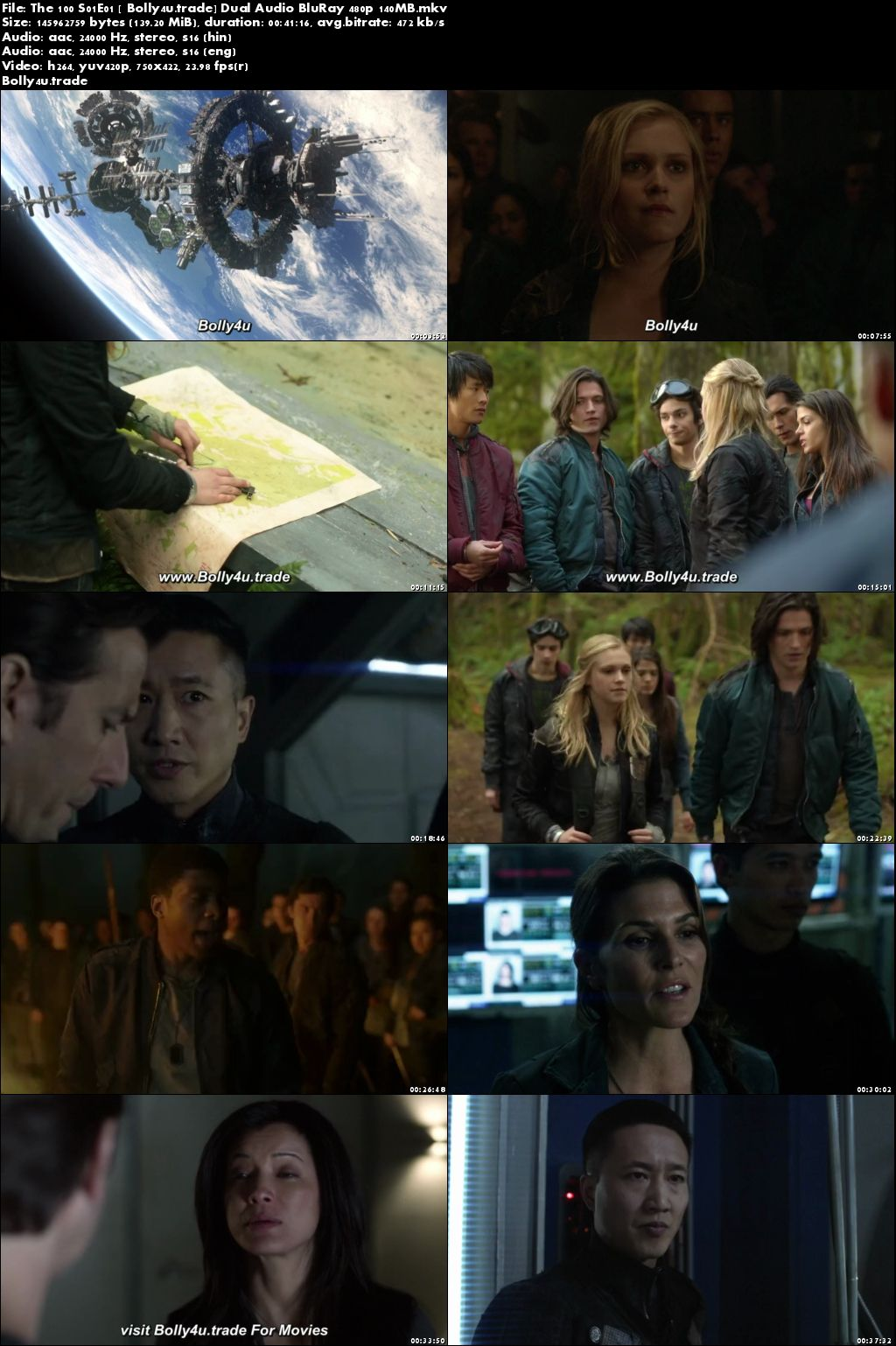 The 100 S01E01 BluRay 140Mb Hindi Dual Audio 480p Download