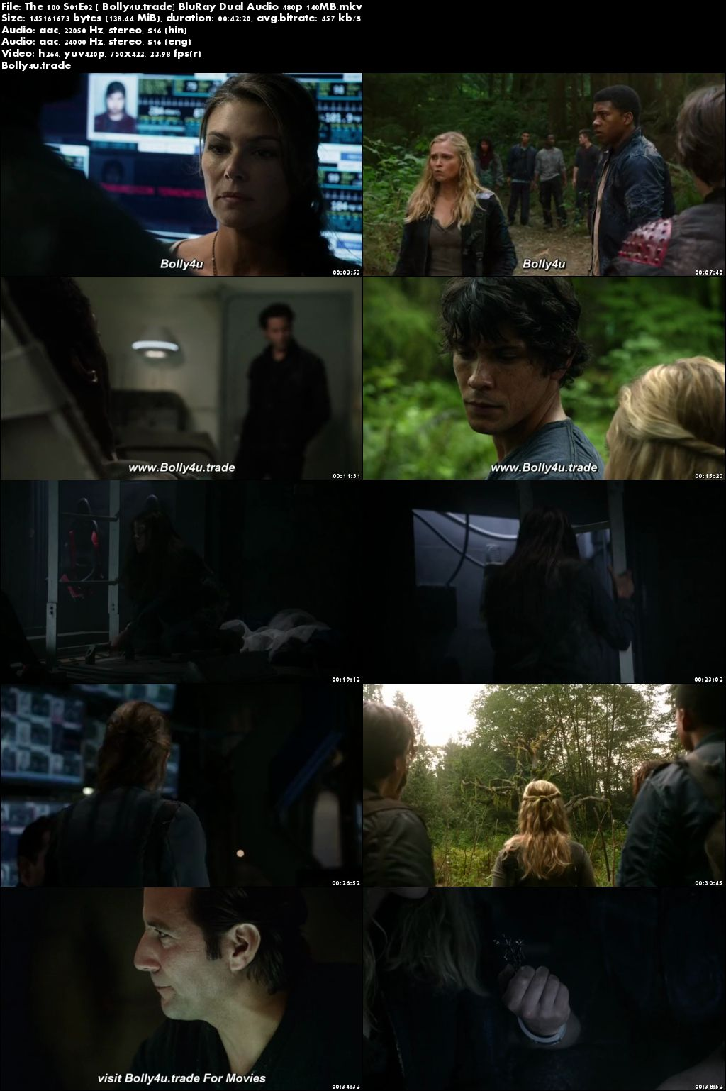 The 100 S01E02 BluRay 140MB Hindi Dual Audio 480p Download