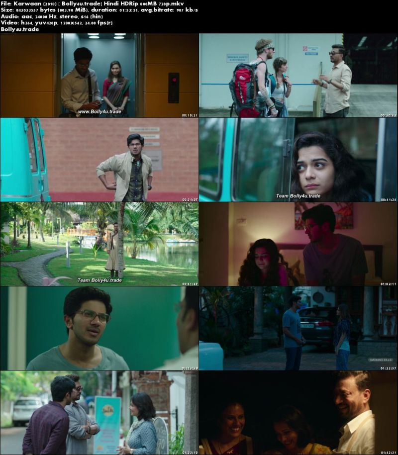 Karwaan 2018 HDRip 300Mb Full Hindi Movie Download 480p ...