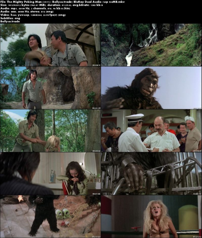 The Mighty Peking Man 1977 BluRay 950MB Hindi Dual Audio 720p Download